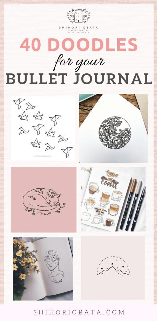 40 Easy Things to Draw for Your Bullet Journal