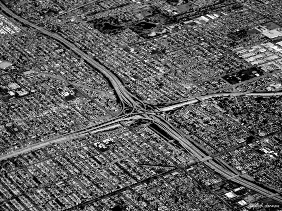 Aerial view of Los Angeles!