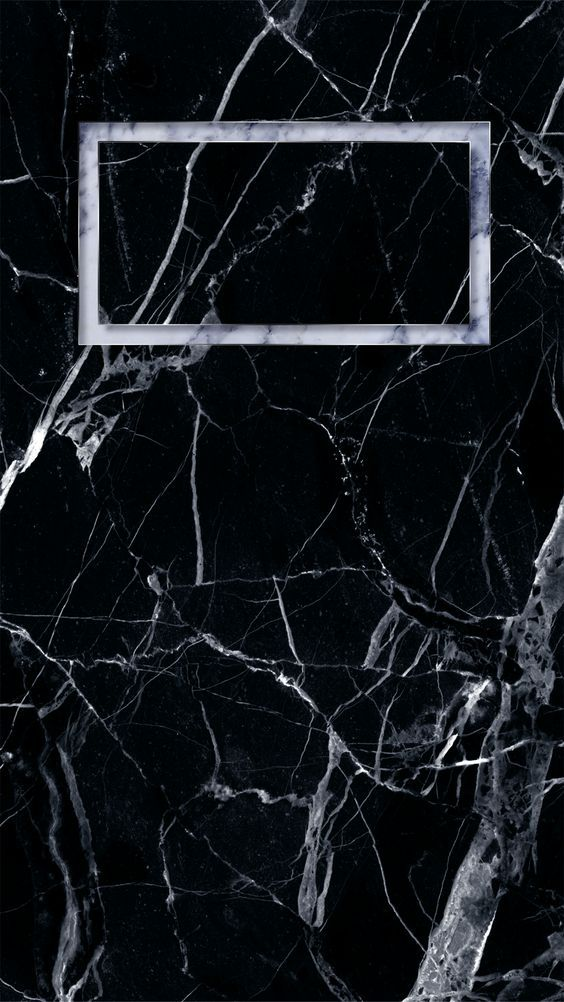 Black Marble Time Frame Phone Wallpaper Lock Screen Iphone