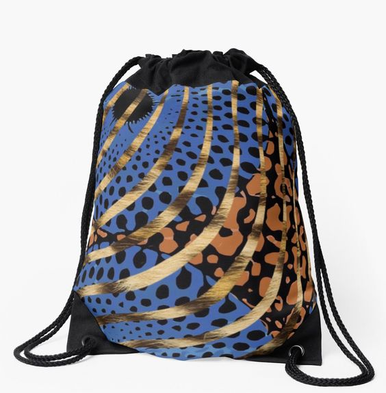 Cheetah Ankara Pattern Swirl-Blue