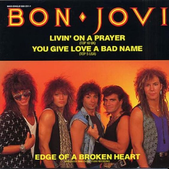 Bon Jovi – Livin' on a Prayer (single cover art)