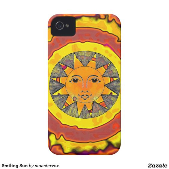 Smiling Sun iPhone 4 Case-Mate Case #Sun #SunShine #Star #SoarSystem #Space #Mobile #Phone #Case #Cover #iPhone