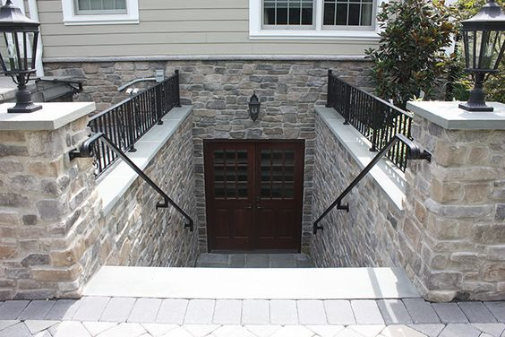 Copper basement ideas and ground level on pinterest for Walkout basement door options
