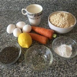 muffins de chía y zanahoria