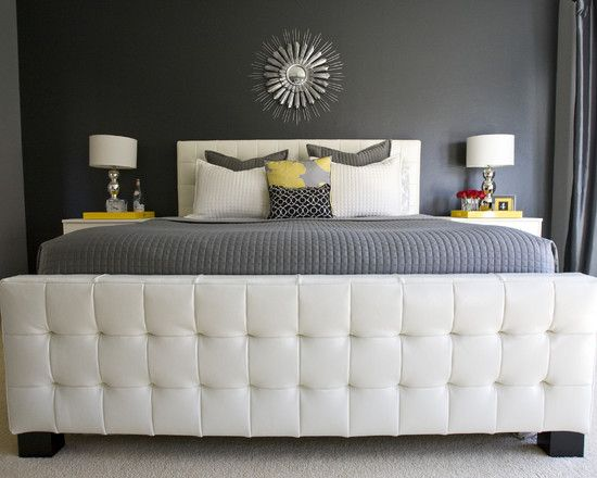 Gray And Navy Bedroom Design, Pictures, Remodel, Decor and Ideas - page 2