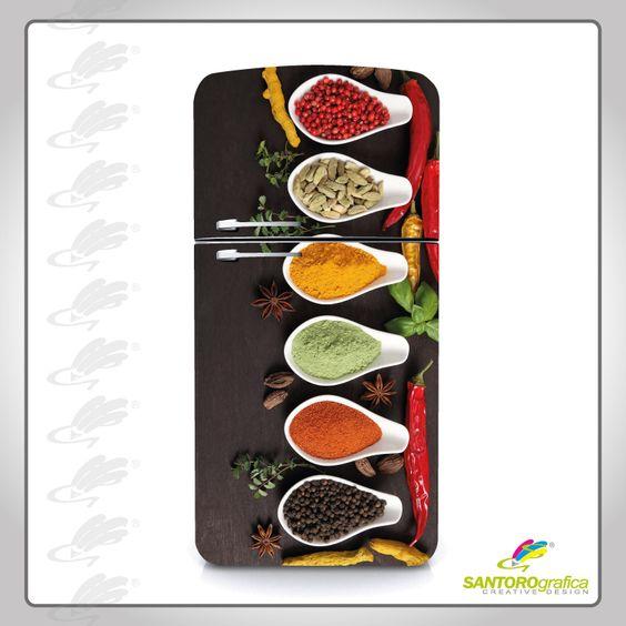 #ilmiofrgioèunico #solodasantorografica adesivo per frigo - portaspezie marrone