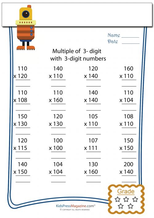 Multiplication Worksheets multiplication worksheets stage 2 : Multiplication Worksheet – 3 digit by 3 digit - #2 | Homeschool ...