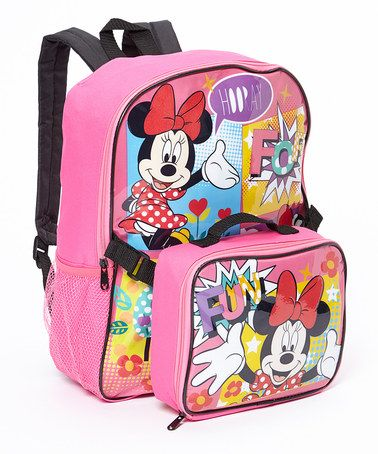 Look what I found on #zulily! Minnie Mouse Backpack & Lunch Box Set by Global Design #zulilyfinds
