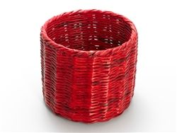 Multipurpose cylindrical basket from old newspapers & colored with non-toxic inks. Perfect for home & office!