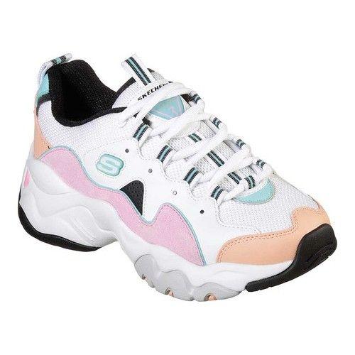 Women's Skechers D'Lites 3 Zenway Sneaker WhitePinkBlue