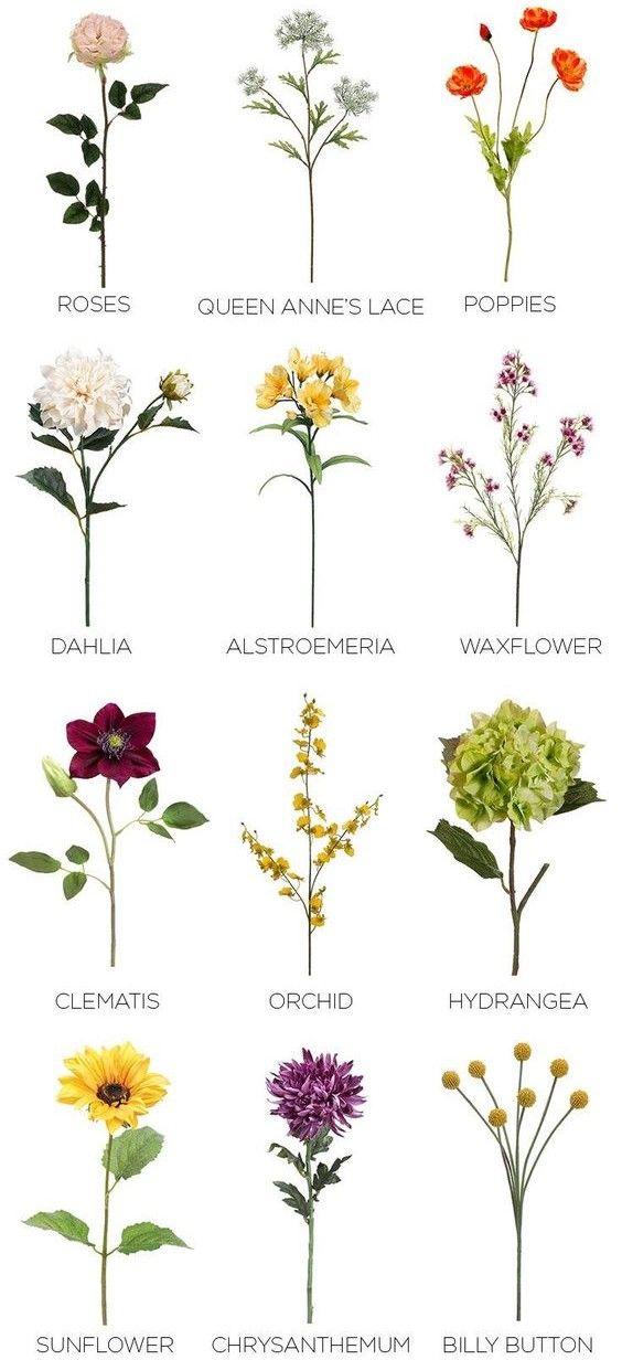 Wedding Flower Favorites Artificial Flowers Fake Flowers Wedding Flowers Summer
