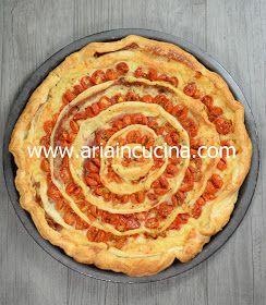 Blog di cucina di Aria: Torta salata vortice con pomodorini e formaggio