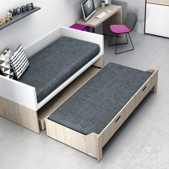 Dormitorios juveniles habitaciones infantiles y mueble for Medidas cama juvenil