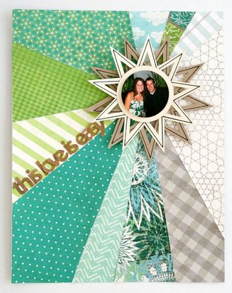 http://www.studiocalico.com/galleries/53280-this-love-is-easy    love the color scheme, design and movement in this scrapbook layout