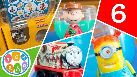MINIONS Peanuts Charlie Brown Thomas! ToyRap Gashapon Vending Machine Su...