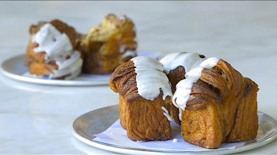 Dominique Ansel's cinnamon spun rolls (with icing) are a breakfast or dessert dream