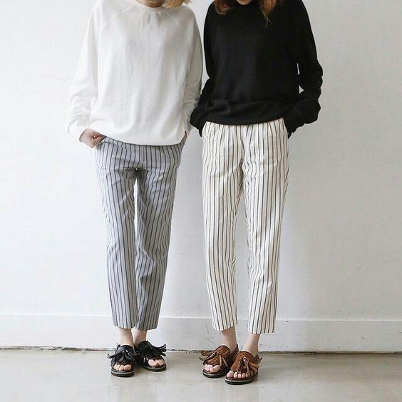 loose top + loose pants + sandals equals comfort