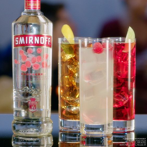 It's #Hollywood's biggest night, when the stars are thankful to accept #awards and the orchestra is thankful to play them off. Toast your #viewingparty with one of these #EasyDrinks but hurry, before the music gets you. #redcarpet  Just mix Smirnoff Raspberry with Iced Tea, or Lemonade, or Cranberry Juice.