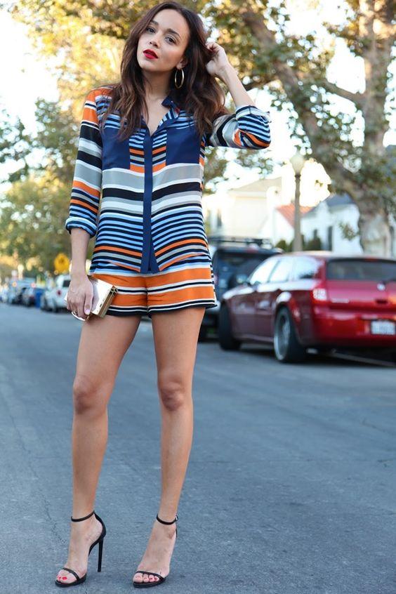 Ashley Madekwe Blog shorts y camisa de Harlyn