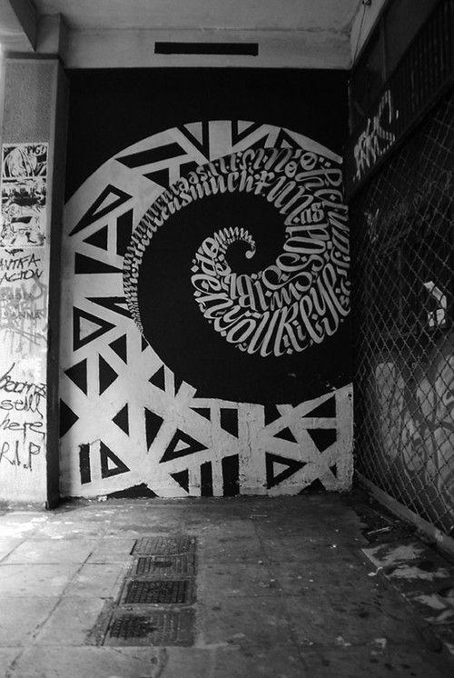 Urban Calligraphy collaboration between Papagrigoriou Greg and Simek