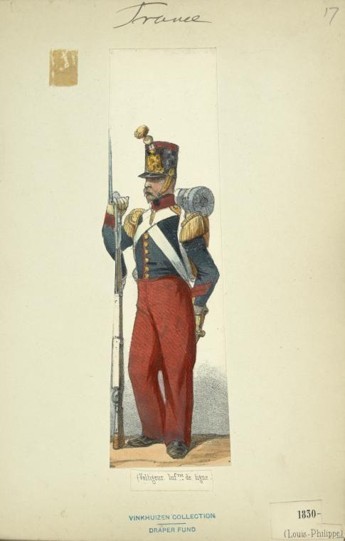 Bourbon Restoration 1829 | Army uniform, Napoleonic wars, Historical