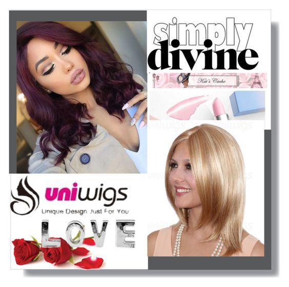 """""""UNIWIGS - Synthetic Trendy Wigs"""" by sabine-rose ❤ liked on Polyvore featuring Sephora Collection, women's clothing, women's fashion, women, female, woman, misses and juniors"""