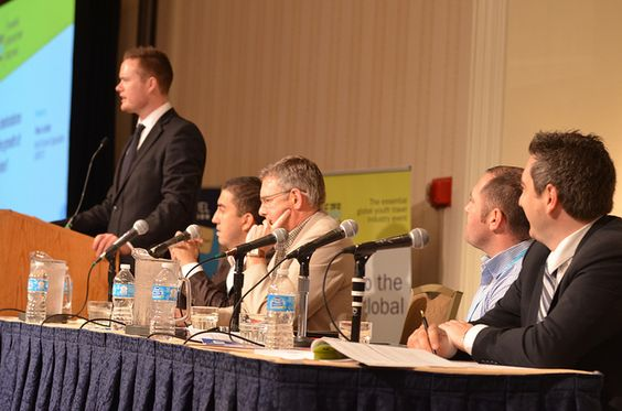 One of many influential panel discussions