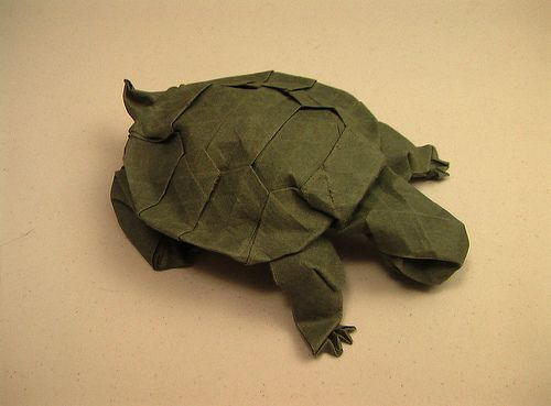 Western Pond Turtle Origami By Kyokamih On Deviantart Origami