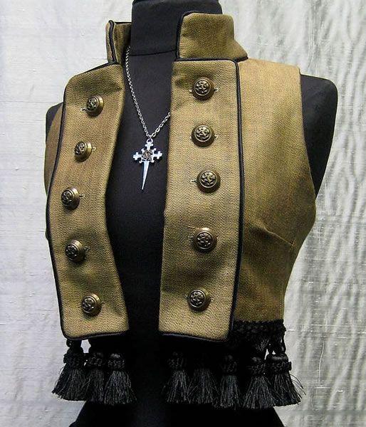 Toreador Vest - Antique Denim by Shrine Clothing Gothic