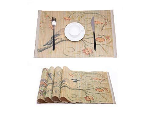 Kfz Natural Bamboo Placemats For Dining Table Bamboo Placemats Placemats Prints