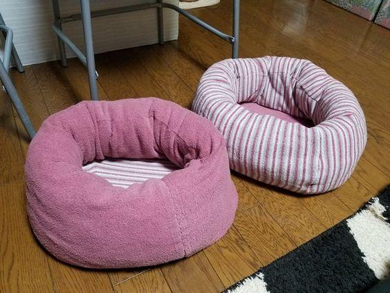 捨てちゃうズボンで猫や犬のベッドを作っちゃお 猫 ベッド 手作り 犬 おもちゃ 犬用ベッド