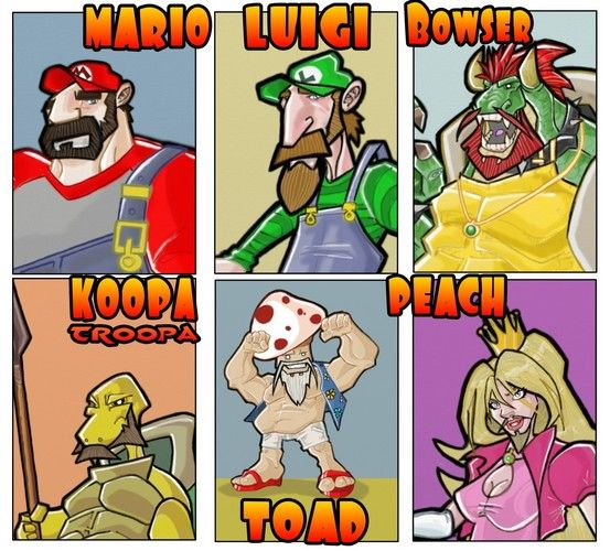 Slapping some beards on these beloved gaming characters.
