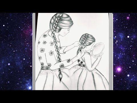 تعليم الرسم بالرصاص رسم عيد الأم Mother S Day Drawing With Pencil Sketch For Bignners Youtube In 2021 Mothers Day Drawings Cute Art Styles Funny Drawings
