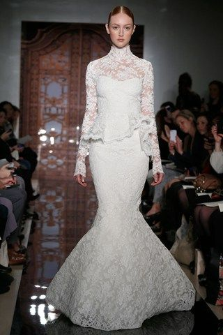 Reem Acra Bridal Fall 2013 -No to the ruffle in the middle