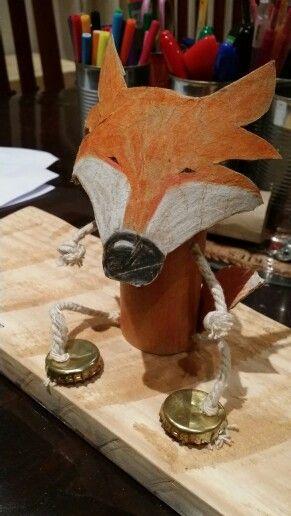 My toilet paper roll. Mr Fox