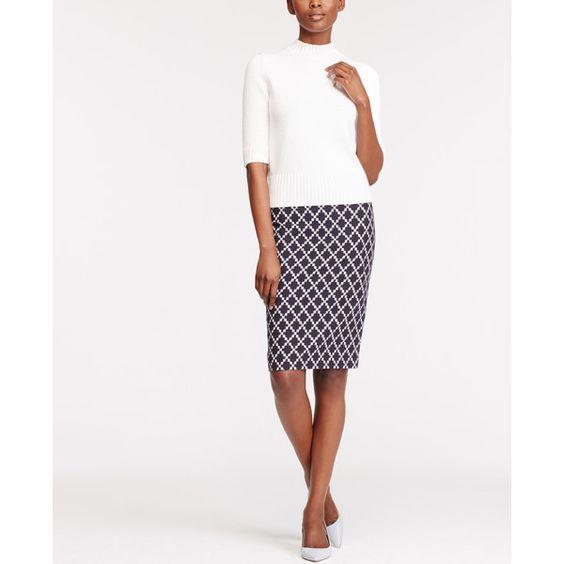 Ann Taylor Tile Jacquard Pencil Skirt ($89) ❤ liked on Polyvore ...