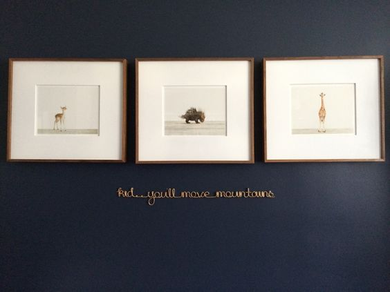"""kid.. you'll move mountains"" wire quote - what a sweet nursery decor accent!"