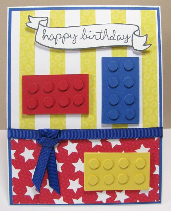 Cute Lego birthday card.