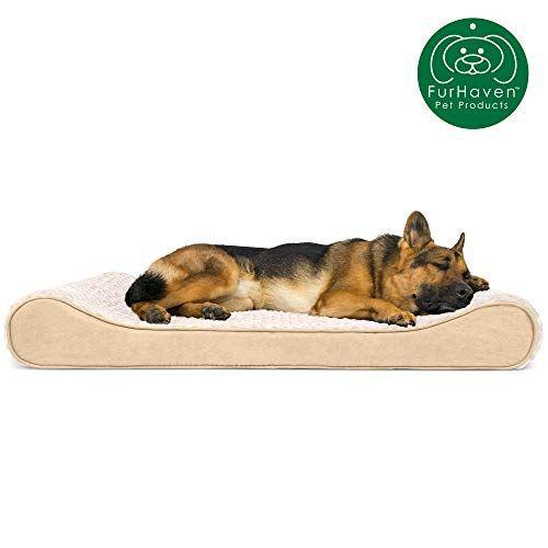 Furhaven Pet Dog Bed Orthopedic Ultra Plush Faux Fur Ergonomic Luxe Lounger Cradle Mattress Contour Pet Bed W Dog Pet Beds Orthopedic Pet Bed Dog Bed Large
