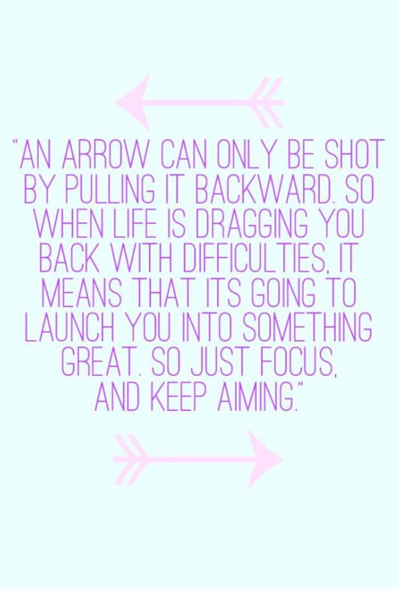   focus and keep aiming  