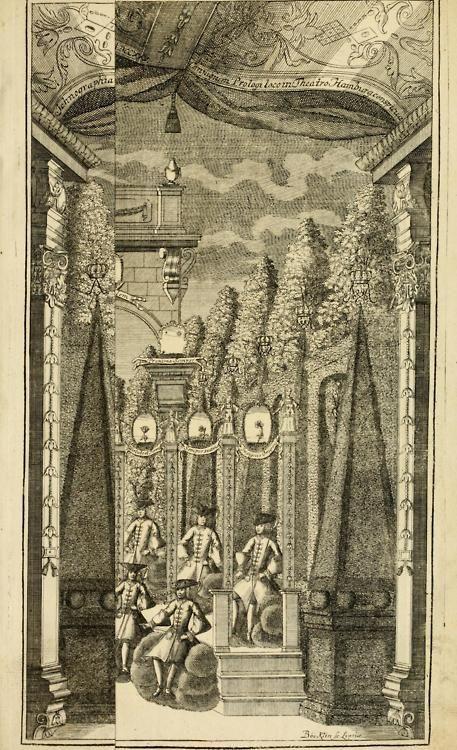 Eine Collection curieuser Vorstellungen in Illuminationen und Feuer-Wercken  so in denen Jahren 1724 biss 1728 inclusivè, bey Gelegenheit einiger publiquen Festins und Rejouïssances, in Hamburg und mehrentheils auf dem Schau-Platze daselbst, unter der Direction und von der Invention Thomas Lediard's … sind vorgestellet worden: in sechszehn grossen Kupfer-Platen sauber gestochen, und auff das accurateste abgebildet, nebst derselben besondern, vollkommenen und ausführlichen Beschr