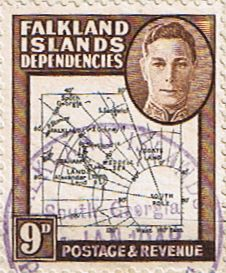 Falkland Islands Dependencies 1946 Map SG G7 Fine Used Scott 1L7 Other South Pacific and British Commonwealth Stamps HERE!