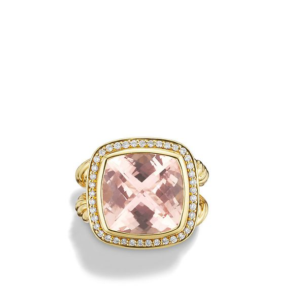 Albion Ring with Morganite and Diamonds in Gold $6,000