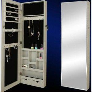 Espejo pared con joyero alison espejos joyeros pinterest - Mueble espejo joyero ...