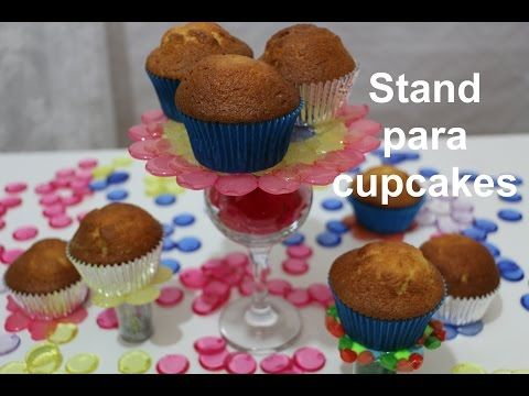 Stand para cupcakes de abalorios. Melted beads stands - YouTube