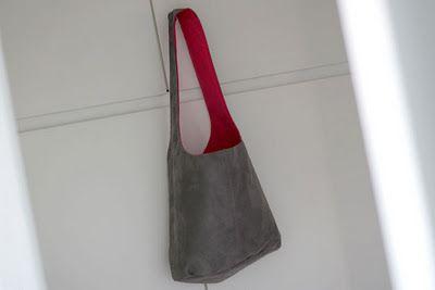 Leather Shoulder Bag #sewing