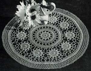 Spin-a-Way Doily S-895 | Crochet Patterns