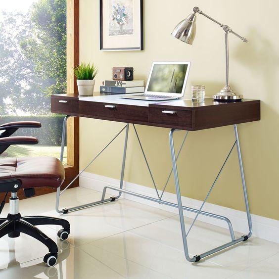 Dual-toned Melamine Office Desk
