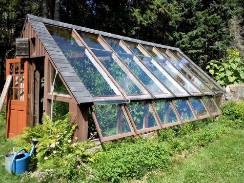 A visit to helen and scott nearing s gardens l 39 wren Passive solar greenhouse design plans