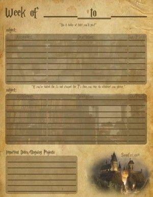 Homework planner online